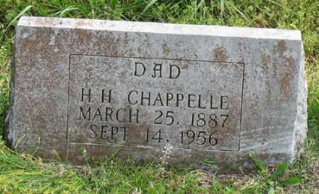 CHAPPELLE, H. H. - Marion County, Arkansas | H. H. CHAPPELLE - Arkansas Gravestone Photos