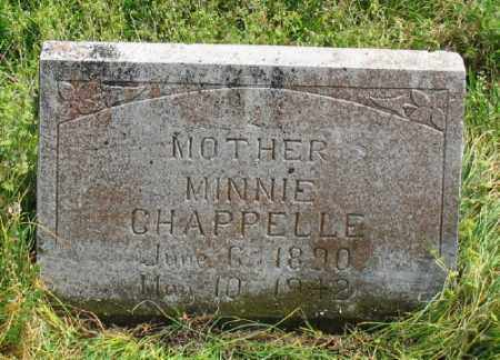 CHAPPELLE, MINNIE - Marion County, Arkansas   MINNIE CHAPPELLE - Arkansas Gravestone Photos