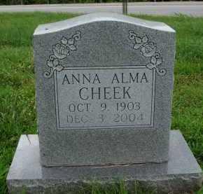 CHEEK, ANNA ALMA - Marion County, Arkansas | ANNA ALMA CHEEK - Arkansas Gravestone Photos