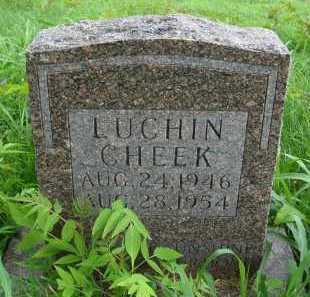 CHEEK, LUCHIN - Marion County, Arkansas | LUCHIN CHEEK - Arkansas Gravestone Photos