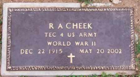 CHEEK (VETERAN WWII), R. A. - Marion County, Arkansas | R. A. CHEEK (VETERAN WWII) - Arkansas Gravestone Photos