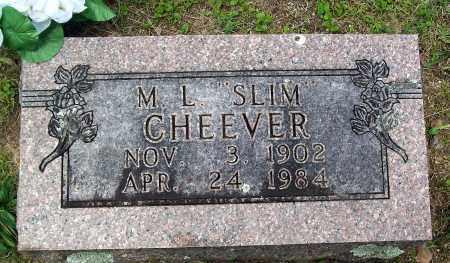 "CHEEVER, M. L. ""SLIM"" - Marion County, Arkansas | M. L. ""SLIM"" CHEEVER - Arkansas Gravestone Photos"