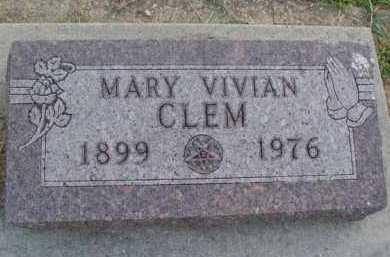 CLEM, MARY VIVIAN - Marion County, Arkansas | MARY VIVIAN CLEM - Arkansas Gravestone Photos