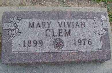 CLEM, MARY VIVIAN - Marion County, Arkansas | MARY VIVIAN CLEM - Arkansas Gravestone Photos