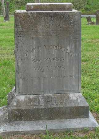 COCHRAN, MINNIE A. - Marion County, Arkansas   MINNIE A. COCHRAN - Arkansas Gravestone Photos