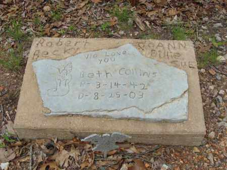 COLLINS, BETH - Marion County, Arkansas | BETH COLLINS - Arkansas Gravestone Photos