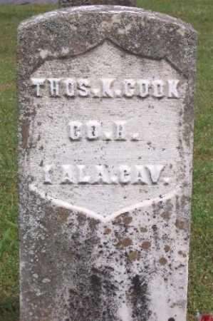 COOK (VETERAN UNION), THOMAS K - Marion County, Arkansas | THOMAS K COOK (VETERAN UNION) - Arkansas Gravestone Photos