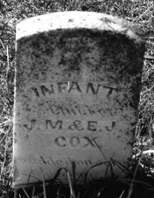 COX, INFANT - Marion County, Arkansas | INFANT COX - Arkansas Gravestone Photos