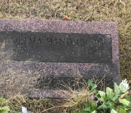 HAND CRAIG, VELMA - Marion County, Arkansas | VELMA HAND CRAIG - Arkansas Gravestone Photos