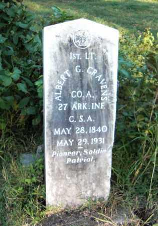 CRAVENS (VETERAN CSA), ALBERT G - Marion County, Arkansas   ALBERT G CRAVENS (VETERAN CSA) - Arkansas Gravestone Photos
