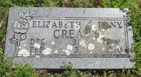 CREACH, ELIZABETH A. - Marion County, Arkansas   ELIZABETH A. CREACH - Arkansas Gravestone Photos