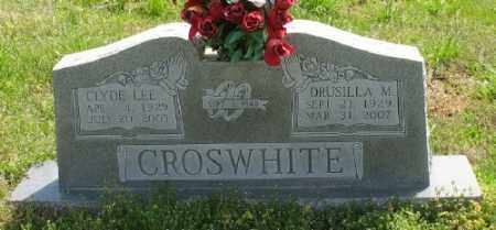 CURTIS CROSWHITE, DRUSILLA M. - Marion County, Arkansas | DRUSILLA M. CURTIS CROSWHITE - Arkansas Gravestone Photos