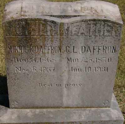 WOOD DAFFRON, MINNIE C. - Marion County, Arkansas   MINNIE C. WOOD DAFFRON - Arkansas Gravestone Photos