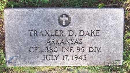 DAKE (VETERAN 2 WARS), TRAXLER D - Marion County, Arkansas   TRAXLER D DAKE (VETERAN 2 WARS) - Arkansas Gravestone Photos