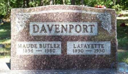 DAVENPORT, MAUDE - Marion County, Arkansas   MAUDE DAVENPORT - Arkansas Gravestone Photos
