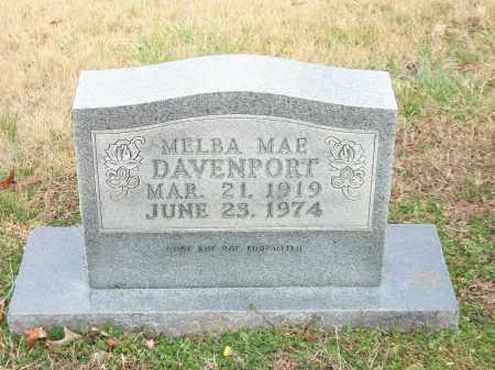 DAVENPORT, MELBA MAE - Marion County, Arkansas   MELBA MAE DAVENPORT - Arkansas Gravestone Photos
