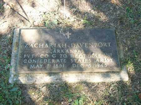 DAVENPORT (VETERAN CSA), ZACHARIAH TAYLOR - Marion County, Arkansas | ZACHARIAH TAYLOR DAVENPORT (VETERAN CSA) - Arkansas Gravestone Photos