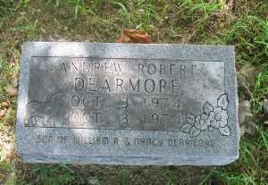 DEARMORE, ANDREW ROBERT - Marion County, Arkansas   ANDREW ROBERT DEARMORE - Arkansas Gravestone Photos