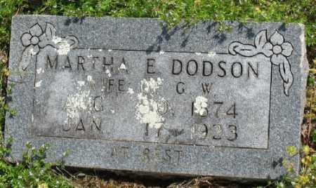DODSON, MARTHA E. - Marion County, Arkansas   MARTHA E. DODSON - Arkansas Gravestone Photos