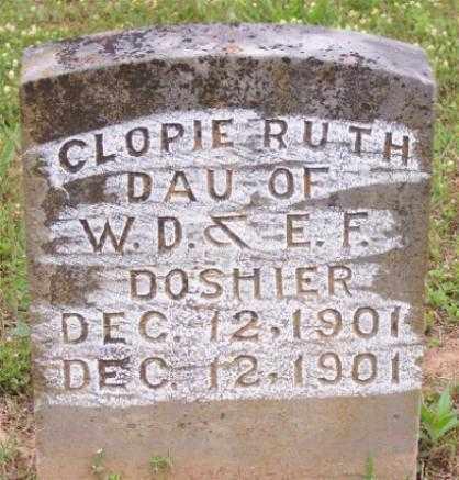 DOSHIER, CLOPIE RUTH - Marion County, Arkansas   CLOPIE RUTH DOSHIER - Arkansas Gravestone Photos