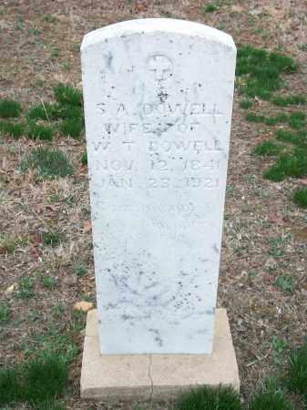 DOWELL, S. A. - Marion County, Arkansas | S. A. DOWELL - Arkansas Gravestone Photos