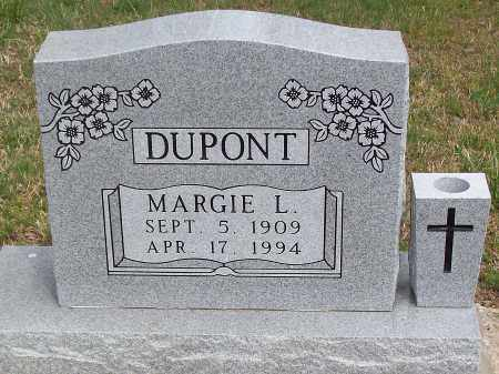 DUPONT, MARGIE L. - Marion County, Arkansas   MARGIE L. DUPONT - Arkansas Gravestone Photos