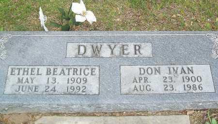 DWYER, ETHEL BEATRICE - Marion County, Arkansas | ETHEL BEATRICE DWYER - Arkansas Gravestone Photos