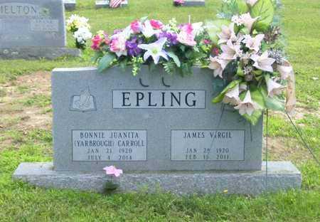 EPLING, JAMES VIRGIL - Marion County, Arkansas | JAMES VIRGIL EPLING - Arkansas Gravestone Photos