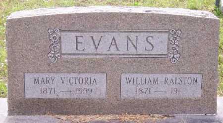EVANS, MARY VICTORIA - Marion County, Arkansas | MARY VICTORIA EVANS - Arkansas Gravestone Photos