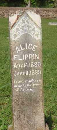 FLIPPIN, ALICE - Marion County, Arkansas | ALICE FLIPPIN - Arkansas Gravestone Photos