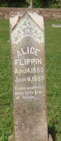 FLIPPIN, ALICE - Marion County, Arkansas   ALICE FLIPPIN - Arkansas Gravestone Photos