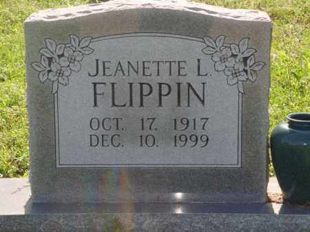 FLIPPIN, JEANETTE L. - Marion County, Arkansas   JEANETTE L. FLIPPIN - Arkansas Gravestone Photos