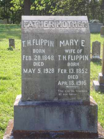 FLIPPIN, MARY E. - Marion County, Arkansas | MARY E. FLIPPIN - Arkansas Gravestone Photos