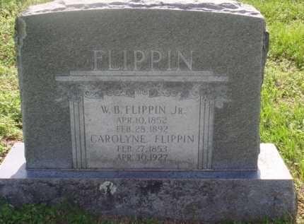 FLIPPIN, W. B. JR. - Marion County, Arkansas | W. B. JR. FLIPPIN - Arkansas Gravestone Photos