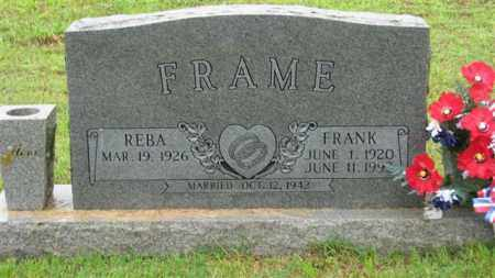 FRAME, WILLIAM FRANK - Marion County, Arkansas | WILLIAM FRANK FRAME - Arkansas Gravestone Photos