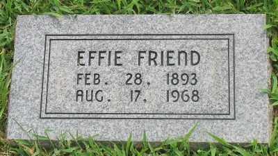 FRIEND, EFFIE - Marion County, Arkansas | EFFIE FRIEND - Arkansas Gravestone Photos