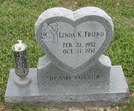 FRIEND, LINDA K. - Marion County, Arkansas | LINDA K. FRIEND - Arkansas Gravestone Photos