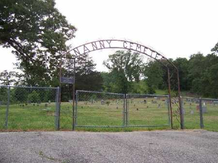 *NANNY CEMETERY GATE,  - Marion County, Arkansas |  *NANNY CEMETERY GATE - Arkansas Gravestone Photos