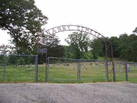 *NANNY CEMETERY GATE,  - Marion County, Arkansas    *NANNY CEMETERY GATE - Arkansas Gravestone Photos