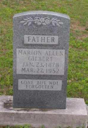 GILBERT, MARION ALLEN - Marion County, Arkansas   MARION ALLEN GILBERT - Arkansas Gravestone Photos