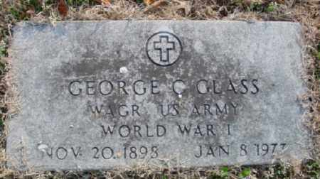 GLASS (VETERAN WWI), GEORGE C. - Marion County, Arkansas | GEORGE C. GLASS (VETERAN WWI) - Arkansas Gravestone Photos