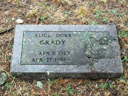 DORR GRADY, ALICE - Marion County, Arkansas | ALICE DORR GRADY - Arkansas Gravestone Photos