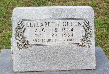 GREEN, ELIZABETH - Marion County, Arkansas | ELIZABETH GREEN - Arkansas Gravestone Photos