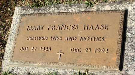 HAASE, MARY FRANCES - Marion County, Arkansas   MARY FRANCES HAASE - Arkansas Gravestone Photos