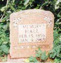HALL, MEMORY - Marion County, Arkansas   MEMORY HALL - Arkansas Gravestone Photos
