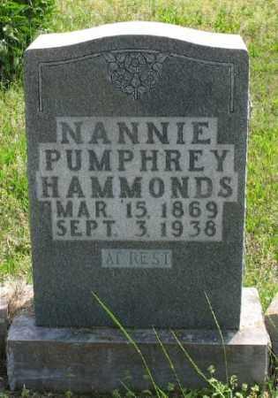 HAMMONDS, NANNIE - Marion County, Arkansas | NANNIE HAMMONDS - Arkansas Gravestone Photos
