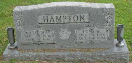 HAMPTON, WILLIE MAY - Marion County, Arkansas | WILLIE MAY HAMPTON - Arkansas Gravestone Photos