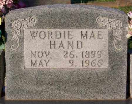 HAND, WORDIE MAE - Marion County, Arkansas | WORDIE MAE HAND - Arkansas Gravestone Photos