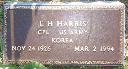 HARRIS (VETERAN KOR), L. H. - Marion County, Arkansas | L. H. HARRIS (VETERAN KOR) - Arkansas Gravestone Photos