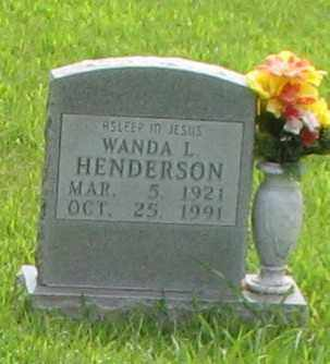 HENDERSON, WANDA L. - Marion County, Arkansas   WANDA L. HENDERSON - Arkansas Gravestone Photos